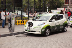 Nissan Electric Taxi Royalty Free Stock Photography