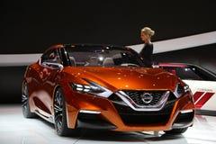 Nissan-Fahrzeuge an der Automobilausstellung Lizenzfreie Stockfotografie