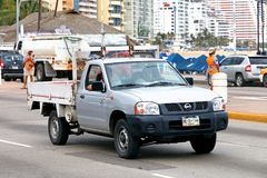 Nissan Frontier. Acapulco, Mexico - May 30, 2017: Grey pickup truck Nissan Frontier in the city street Stock Photo