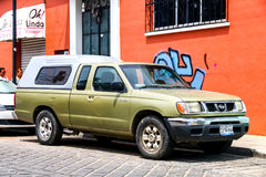 Nissan Frontier. OAXACA, MEXICO - MAY 25, 2017: Pickup truck Nissan Frontier in the city street Royalty Free Stock Photos