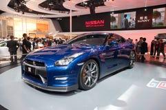 Nissan GT azul r Imagenes de archivo