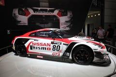 Nissan GT3 Nismo tävlings- bil Arkivfoton