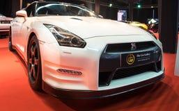Nissan GT-R apresentou na exposição automóvel de Telavive foto de stock royalty free