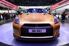 NISSAN GT-R Bolt Special Edition saloon car Royalty Free Stock Images