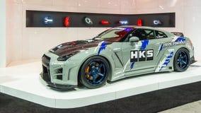 Nissan GT-R, de Marktvereniging SEMA, Las van het Specialiteitmateriaal Royalty-vrije Stock Fotografie