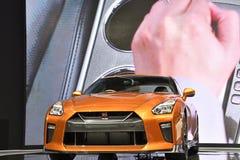 Nissan GT-R högvärdig upplaga på den 39th BANGKOK INTERNATIONELLA MOTORISKA SHOWEN 2018 fotografering för bildbyråer