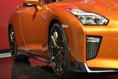 Nissan GT-R högvärdig upplaga på den 39th BANGKOK INTERNATIONELLA MOTORISKA SHOWEN 2018 arkivfoton