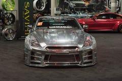 Nissan GT-R-het stemmen op vertoning Royalty-vrije Stock Foto's