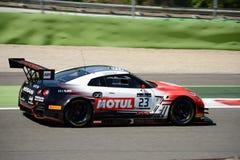 Nissan GT-R Nismo GT3 bij de Monza-Kring Royalty-vrije Stock Afbeelding