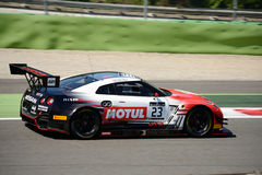 Nissan GT-R Nismo GT3 am Monza-Stromkreis lizenzfreies stockbild
