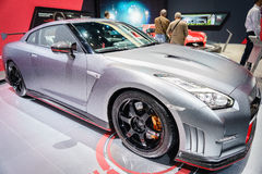 Nissan GT-R Nismo, Motor Show Geneve 2015. Nissan GT-R Nismo at the 85th International Geneva Motor Show in Palexpo, Switzerland Royalty Free Stock Photo