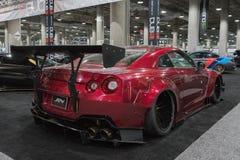 Nissan GT-R op vertoning tijdens La Auto toont Stock Foto