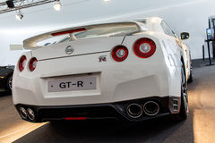 Nissan GT-R-Rückseitenschuß stockfoto