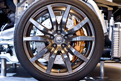 Nissan GT-R wheel Stock Images