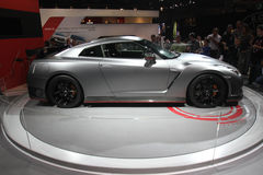 Nissan GTR auf Paris-Autoausstellung 2014 Stockbilder