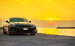 Nissan GTR Black Edition Stock Photo