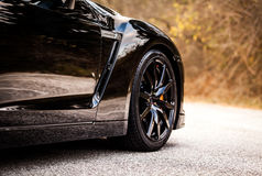 Nissan GTR Black Edition Royalty Free Stock Photos