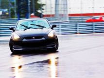 Nissan GTR Drift. Ing at the 2010 GT opening in Gothenburg Royalty Free Stock Photography