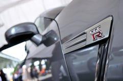 Nissan-GTR Kupee an Formel-Antrieb 2010 Stockbilder