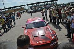 Nissan gtr-r, Weg, spoor, asfalt, ringsrassen Sportscar het stemmen Concurrentie op gestemde auto's in afwijking rds Stock Foto