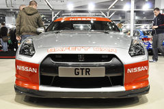 A Nissan GTR Safety Car Stock Images
