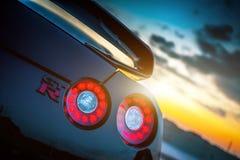 Nissan GTR svart upplaga Arkivfoto