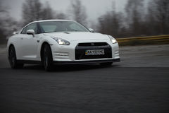 Nissan GTR on track Stock Image