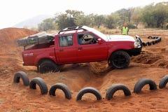 Nissan Hardbody no curso 4x4 Fotografia de Stock