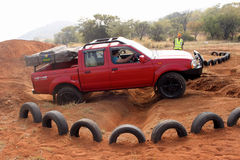Nissan Hardbody on 4x4 Course Stock Photography