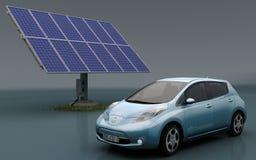Nissan hojean con el conjunto solar Imagenes de archivo