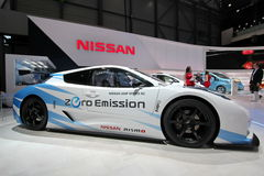 Nissan hojean la emisión cero de Nismo RC Fotografía de archivo