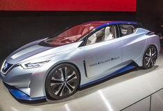 Nissan Intelligent Mobility at CES Stock Images