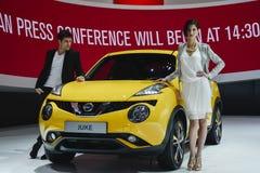 Nissan Juke al salone dell'automobile di Ginevra Immagini Stock