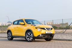 Nissan Juke 1.2 DIG-Turbo 2014 Test Drive Stock Photo