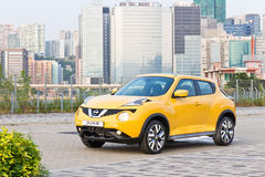 Nissan Juke 1.2 DIG-Turbo 2014 Test Drive Stock Image