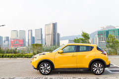 Nissan Juke 1.2 DIG-Turbo 2014 Test Drive Stock Photo