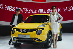 Nissan Juke at the Geneva Motor Show Stock Images