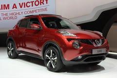 Nissan Juke 2014 sur le salon d'automobile de Genève Image libre de droits