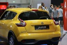 Nissan Juke visade på den 3rd upplagan av MOTO-SHOWEN i Cracow Arkivfoto