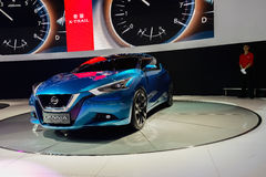 Nissan Lannia begreppsbil, 2014 CDMS Royaltyfri Foto
