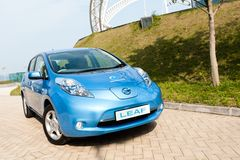 Nissan Leaf Royalty-vrije Stock Foto's
