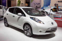 Nissan Leaf Stock Photo