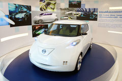 Nissan Leaf, BOI Fair 2011 Thailand Stock Photo