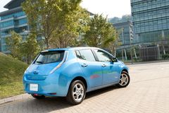 Nissan Leaf Royalty Free Stock Photography