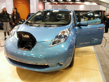 Nissan Leaf Electric Car on Display royalty free stock image