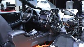 Nissan Leaf full elbil arkivfilmer