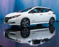 2018 Nissan Leaf, NAIAS Photographie stock libre de droits