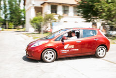 Nissan leaf Royalty Free Stock Images