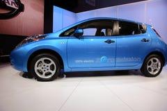 Nissan Leaf At NY International Auto Show stock photo