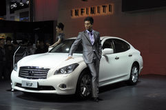 NISSAN M37. Limousine in its exhibition hall,in 2010 international Auto-show GuangZhou. it is from 20/12/2010 to 27/12/2010. photo taken on 25 Dec. 2010 Stock Photography